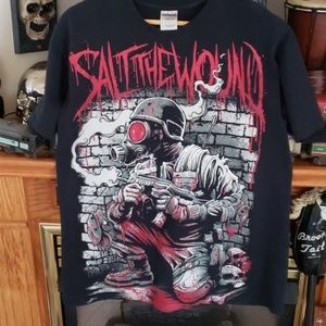Salt the wound band tee